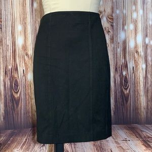 Express Black Detailed Pencil Skirt 4